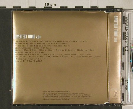 U2: Sweetest Thing, 1,Tr.Promo, Island(Sweetcd1), UK, 1998 - CD5inch - 91698 - 9,00 Euro