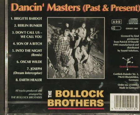 Bollock Brothers: Dancin' Masters, Sound Solutions(), D,FS-new, 1995 - CD - 92259 - 7,50 Euro