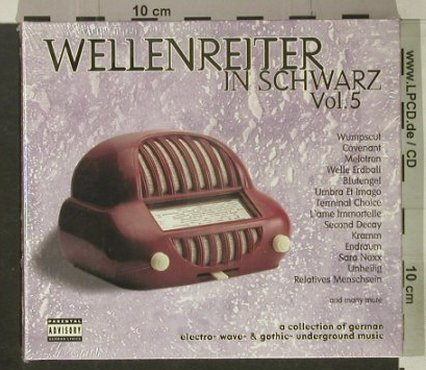 V.A.Wellenreiter in Schwarz: Vol.5, Digi, FS-New, Nova/Credo(), D, 2001 - 2CD - 92472 - 12,50 Euro