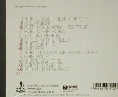 Walking Concert: Run To Be Born, Digi, FS-New, DevilDuck Rec.(), , 2005 - CD - 92504 - 11,50 Euro