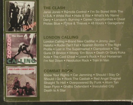 Clash: Same/London Calling/Combat Rock, Columbia(), A, FS-New, 2002 - 3CD - 93356 - 20,00 Euro