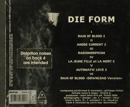 Die Form: Rain of Blood ,6Tr.,Digi, FS-New, MatrixCube(10649-2), A, 99 - CD - 93372 - 10,00 Euro
