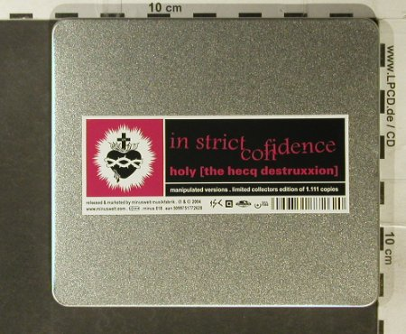 In Strict Confidence: Holy[the hecqdestruxxion], Minuswelt(), Lim.Ed.Box, 2004 - CD - 95592 - 11,50 Euro