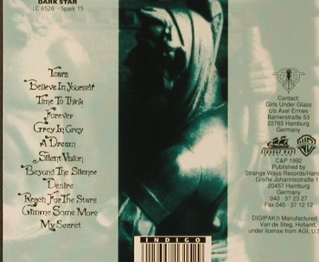Girls Under Glass: Darius, Digi, Dark Star(1315-2), D, 1992 - CD - 96606 - 11,50 Euro