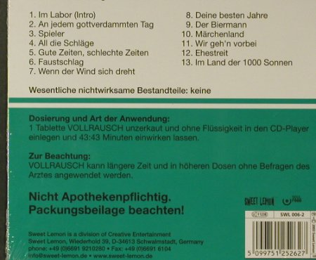 Vollrausch: Wirkstoff: Adrenalin, Digi, FS-New, SweetLemon(), , 2003 - CD - 96688 - 12,50 Euro