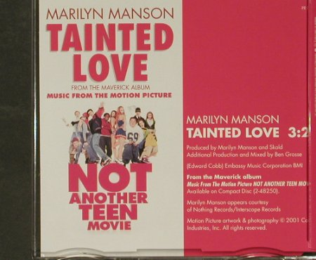 Manson,Marylin: Tainted Love, Promo, 1Tr., Interscope(PRO2975), EC, 2001 - CD5inch - 96812 - 5,00 Euro