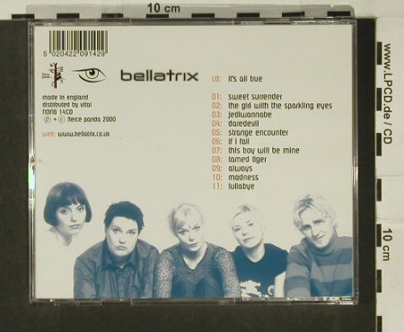 Bellatrix: It's All True, Fierce Panda(nong14), UK, 2000 - CD - 97054 - 2,50 Euro
