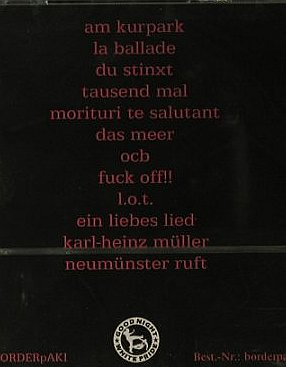 Borderpaki: Kein Platz für Poesie, FS-New, Good Night White Pride(BP-01-2), , 2006 - CD - 98152 - 7,50 Euro