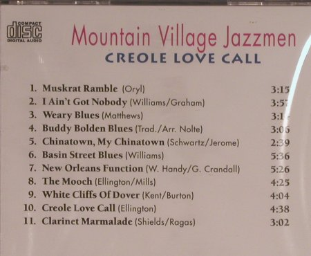 Mountain Village Jazzmen: Creole Love Call, FS-New, Pastels(20.1644), D, 1995 - CD - 99587 - 4,00 Euro