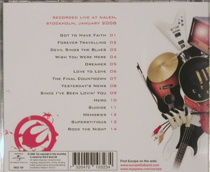 Europe: Almost Unplugged, 14 Tr., Hell & Back(), EU, 2008 - CD - 80096 - 10,00 Euro