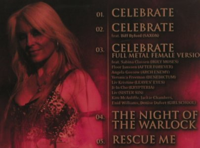 Doro: Celebrate*3/Night of the Warlock+1, AFM(233-5), EU, FS-New, 2008 - CD5inch - 80116 - 5,00 Euro