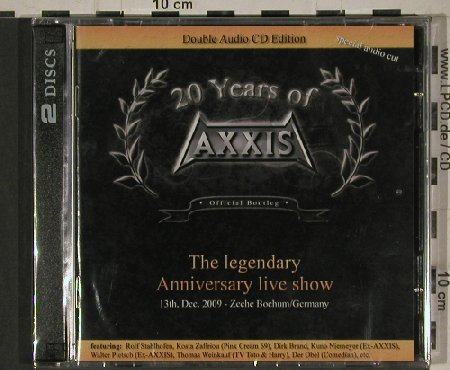 Axxis: 20 Years of, Anniv.Live, FS-New, Phonotraxx(4020796434007), EU, 2011 - 2CD - 80674 - 10,00 Euro