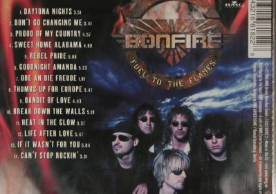 Bonfire: Fuel To The Flames, Facts, Ariola(), D, 99 - CD - 81017 - 10,00 Euro