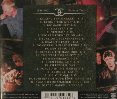 Earth Crisis: 1991-2001 Forever True, FS-New, Victory(VR163), US, 2001 - CD - 81040 - 10,00 Euro