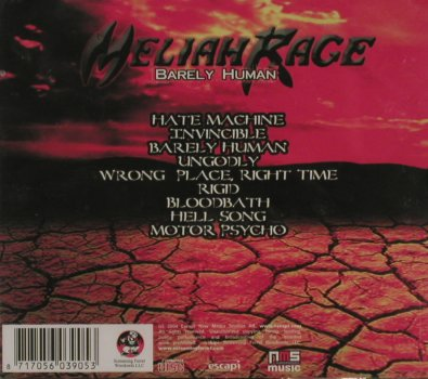 Meliah Rage: Barely Human , Bonus CD, FS-New, Screaming FerretWreckord(AUD005x), , 2004 - 2CD - 81044 - 10,00 Euro