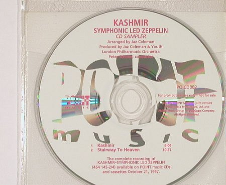 Led Zeppelin by LondonPhilh.Orch: Kashmir, Promo(POICD002), No Cover, 1997 - CD5inch - 82337 - 15,00 Euro