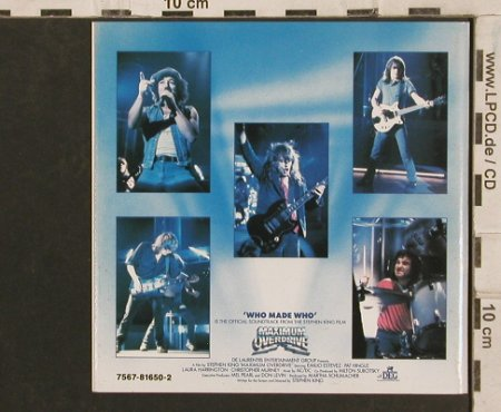 AC/DC: Who Made Who-ONLY front Booklet, Atlantic(), D, 1986 - Cover - 83521 - 2,00 Euro