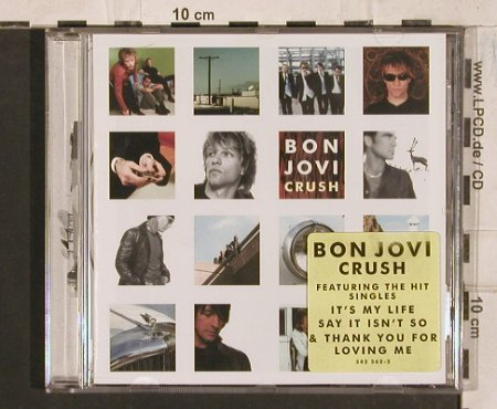 Bon Jovi: Crush, yellow sticker, Mercury(542 562-2), EU, 2000 - CD - 83533 - 7,50 Euro