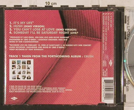 Bon Jovi: It's My Life+3, Mercury(562 754-2), D, 2000 - CD5inch - 83541 - 4,00 Euro