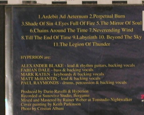 Hyperion: Where Stone Is Unscarred,Promo,Digi, Massacre(), D, 1999 - CD - 83566 - 5,00 Euro