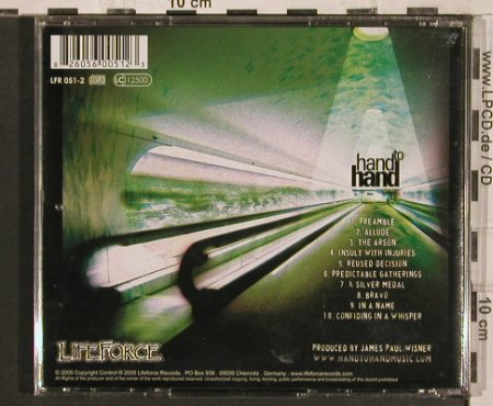 Hand to Hand: A Perfect Way to Say Goodbye, Lifeforce(), , 2005 - CD - 83574 - 5,00 Euro