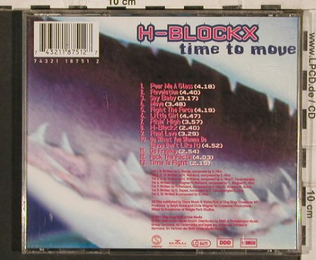 H-BlockX: Time To Move, BMG(), D, 1994 - CD - 83576 - 5,00 Euro