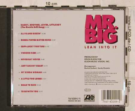 Mr.Big: Lean Into It, Atlantic(), D, 1991 - CD - 83592 - 5,00 Euro