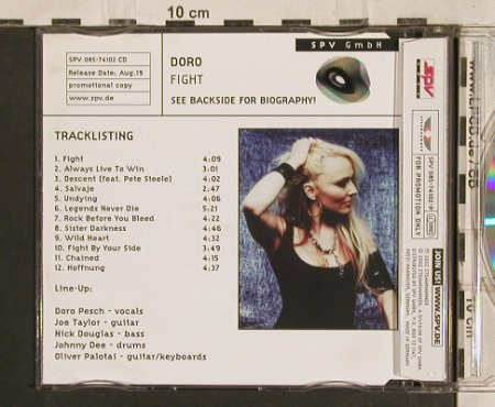 Doro: Fight, 12 Tr.Promo, Steamhammer(), D, 2002 - CD - 90105 - 10,00 Euro