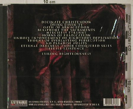 Incantation: Decimate Christendom, FS-New, Listenable(), EU, 2005 - CD - 91287 - 10,00 Euro