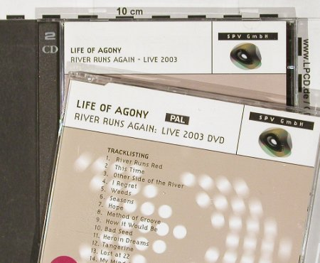 Life Of Agony: River Runs Again,Promo,21Tr.+DVD, Steamhamme(), D, 03 - 2CD - 91307 - 12,50 Euro