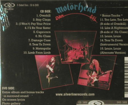 Motörhead: Overkill, Dual Disc, FS-New, Silverline(), , 2005 - CD - 93784 - 11,50 Euro