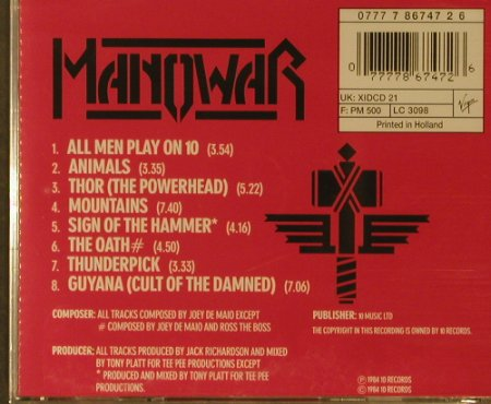 Manowar: Sign Of The Hammer, FS-New, 10 Rec.(7 86747 2), NL, 1984 - CD - 95869 - 10,00 Euro