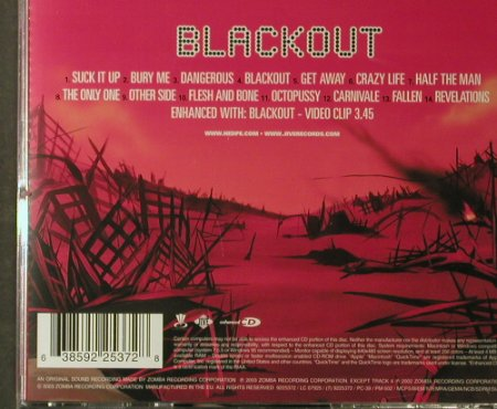 Hed Planet Earth: Blackout, Zomba(), EU, 2003 - CD - 96068 - 7,50 Euro