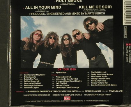 Iron Maiden: Holy Smoke+2, EMI(CDEM 153), UK, 1990 - CD5inch - 96797 - 10,00 Euro