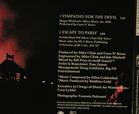 Guns N'Roses: Sympathy For The Devil+1, Geffen(), D, 1994 - CD5inch - 96910 - 4,00 Euro