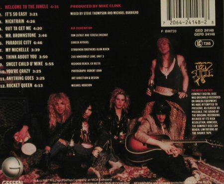 Guns N'Roses: Appetite For Destruction, Geffen(24148), D, 1987 - CD - 96959 - 7,50 Euro