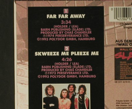 Slade: Far Far Away/Skweeze me Pleeze Me, Polydor(), D, Digi, 1993 - CD5inch - 98011 - 4,00 Euro