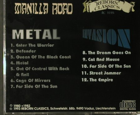 Manilla Road: Invasion / Metal, (RC 1035), , 1993 - CD - 98024 - 20,00 Euro