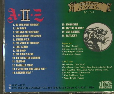 A 2 Z - The Witch Berkeley: Jaguar - Same, Reborn Classics(RC 1041), , 1993 - CD - 98029 - 20,00 Euro