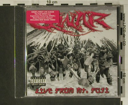 GWAR: Live From Mt. Fuji, FS-New, DRT(RTE 00431), EU, 2005 - CD - 98653 - 12,50 Euro