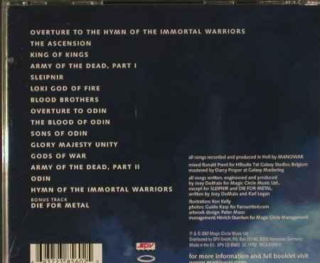 Manowar: Gods Of War, Magic Cirlcle Music(MCA 01201-2), EU, 2007 - CD - 98748 - 11,50 Euro