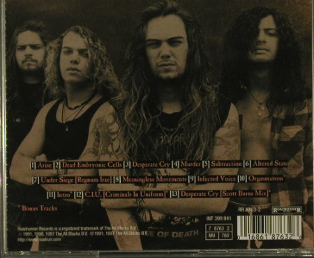 Sepultura: Arise(91), Roadrunner(RR 8763-2), NL, 1997 - CD - 99220 - 10,00 Euro