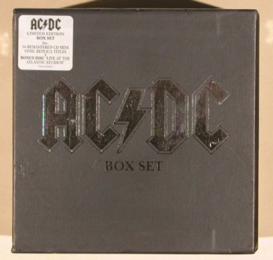 AC/DC: Box Set - Lim.Ed,CD Mini,vinyl repl, Warner(7559 62589), D, 2000 - 17CD - 99236 - 190,00 Euro