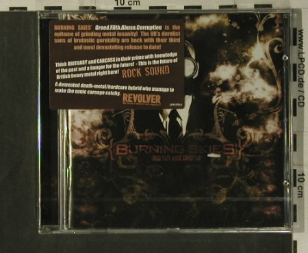 Burning Skies: Greed. Filth. Abuse. Corruption, Lifeforce(LFR 079-2), EU, 2008 - CD - 99300 - 10,00 Euro