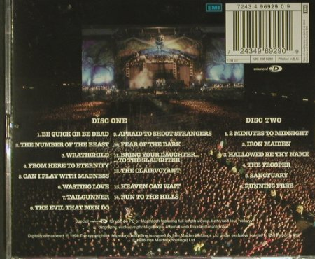 Iron Maiden: Live At Donington 1992, EMI(7243 496929 09), UK, 1998 - 2CD - 99395 - 12,50 Euro