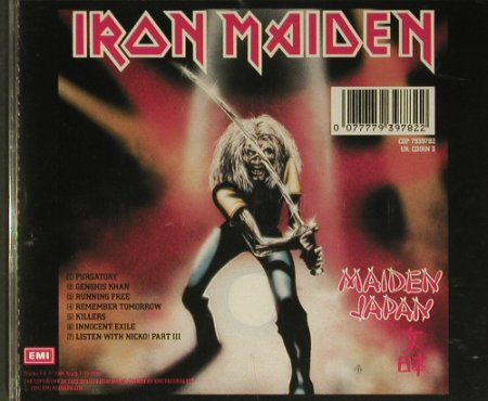 Iron Maiden: Purgatory81, 7 Tr EP, EMI(CDIRN 3), UK, 1990 - CD - 99407 - 12,50 Euro