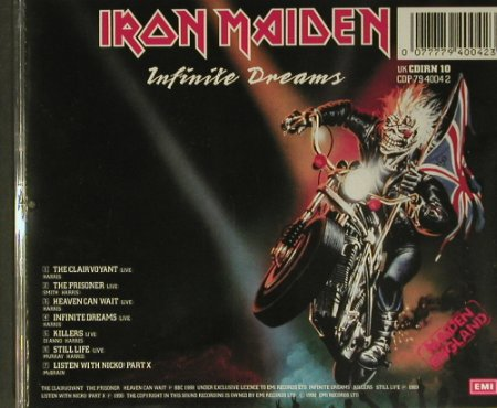 Iron Maiden: The Clairvoyant-Infinit..'89,EP,7Tr, EMI(CDP 79 4004 2), UK, 1990 - CD - 99412 - 12,50 Euro