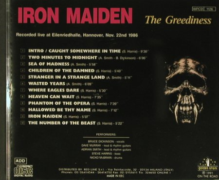 Iron Maiden: The Greendiness, Golden Stars/On the Road(WPCD 1126), EEC, 1991 - CD - 99431 - 15,00 Euro
