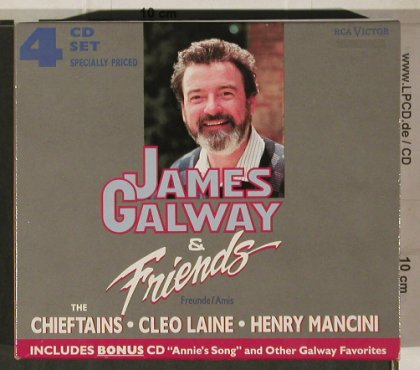 Galway,James & Friends: Chieftains,Cleo Laine,H.Manchini, RCA(RD 60114), D,Box Set, 1989 - 4CD - 80307 - 30,00 Euro