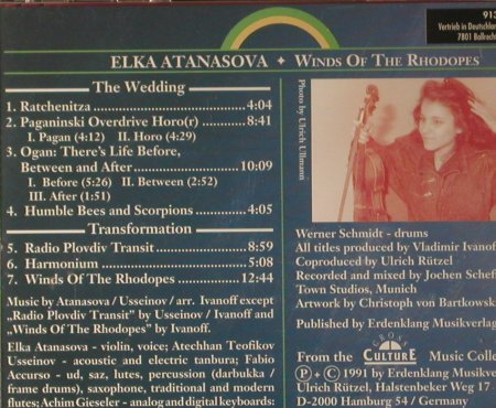 Atanasova,Elka: Winds Of The Rhodopes, Erdenklang(91350), D, 1991 - CD - 84086 - 7,50 Euro